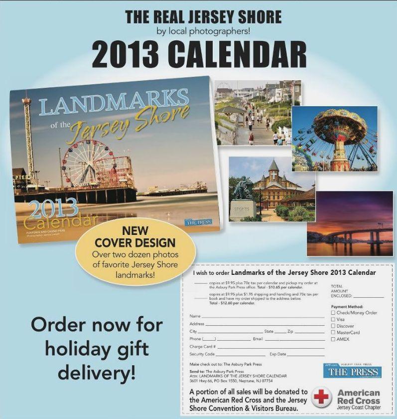 Asbury Park Press 2013 calendar