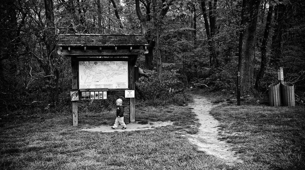 (c)JerseyStyle_Photography_Trailhead_bw_ClaytonPark_May 2013_5693