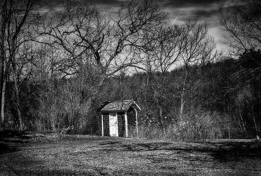 (c)JerseyStyle Photography_Patriotic outhouse2_bw_042014_4616