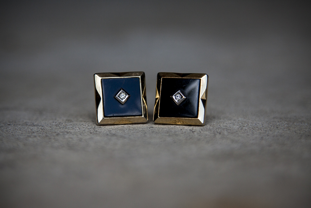 My Dad's 1960's era cuff links he gave me. My first pair of 'links, still my favorite.