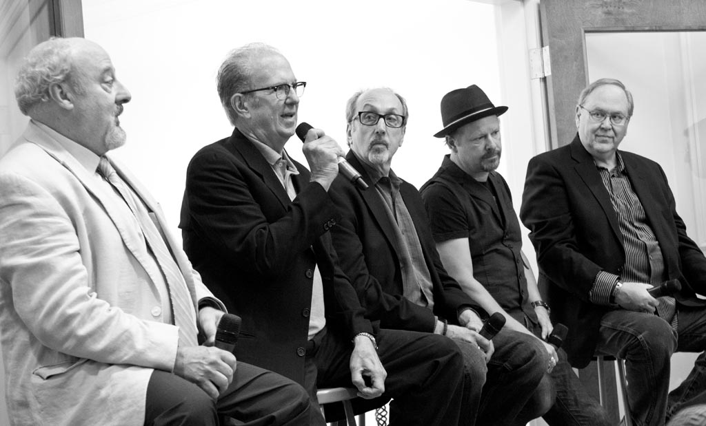 From L to R: Ed Gallucci, Eric Meola, Barry Schneier, Danny Clinch, Frank Stefanko